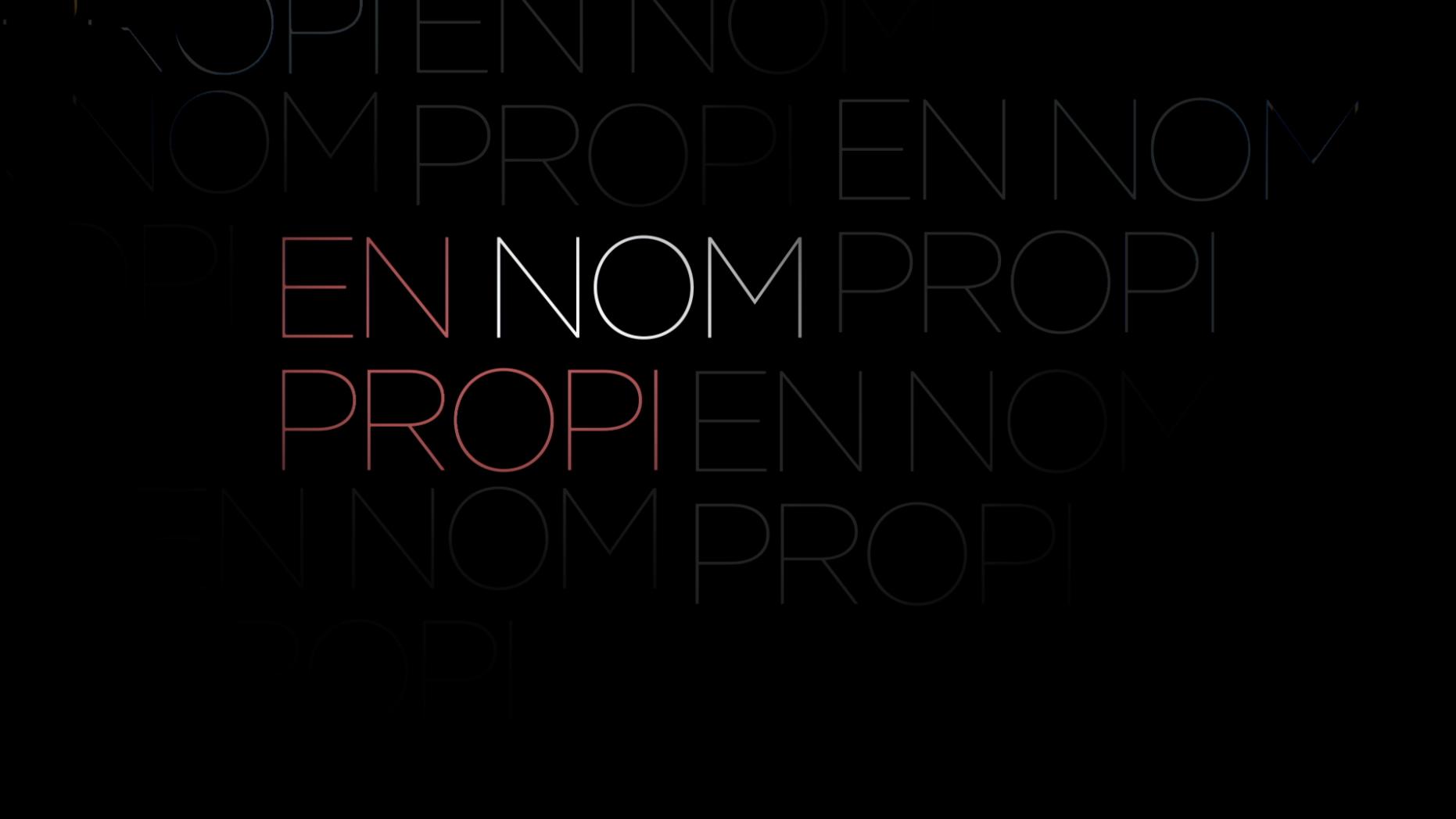 En nom propi (work in progress)